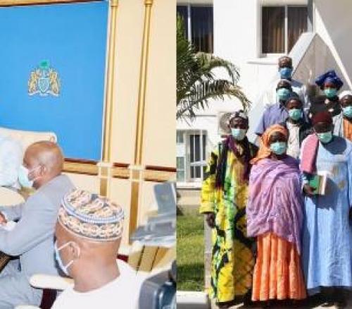 President Adama receives Brikama Ba Farmers Cooperative Society